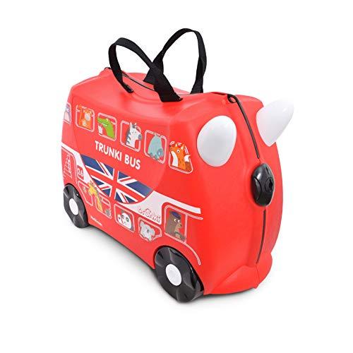 Trunki Maleta correpasillos y equipaje de mano infantil: Autobús Boris (Rojo)
