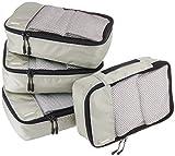 AmazonBasics - Bolsas de equipaje pequeñas (4 unidades), Gris